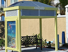 Custom Fabrication of a Bus Shelter with a Solar Powered Side-Lit Advertising Panel
