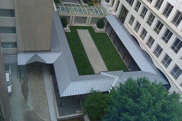 Custom Fabrication of an Aluminum Walkway Canopy & Custom Fabrication of a Walkway Canopy - Southeast US